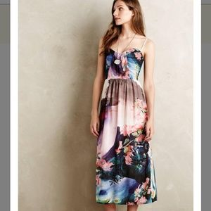Anthropologie Daybreak Midi Dress Sold Out NWOT